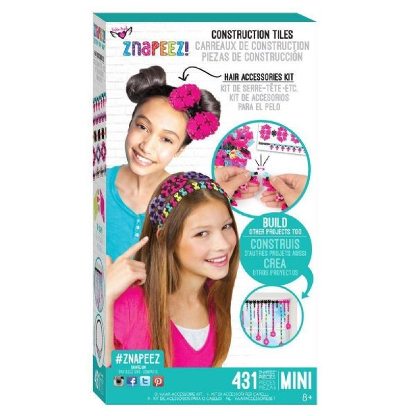 Fashion Angels Znapeez Hair Accessories Kit. Construction Tiles